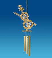 Подвесная фигурка с кристаллами Сваровски Поющий ветерок 16,5 см AR-3296