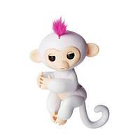 Ручная интерактивная обезьянка HappyMonkey Fingerling White, фото 1