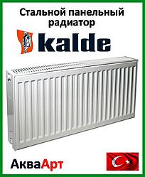 Стальной радиатор Kalde  боковое подключение 22k 300*400