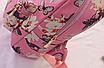 Рюкзак женский кожзам Цветочный принт Розовый, фото 6