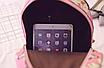 Рюкзак женский кожзам Цветочный принт Розовый, фото 7