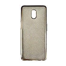 Силикон Air Glitter Meizu M6s (Silver)