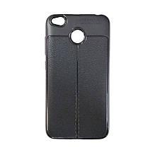 Силикон Leather Case Xiaomi Redmi 4x (черный)