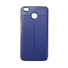 Силикон Leather Case Xiaomi Redmi 4x (синий)