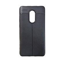 Силикон Leather Case Xiaomi Redmi Note 4x (черный)