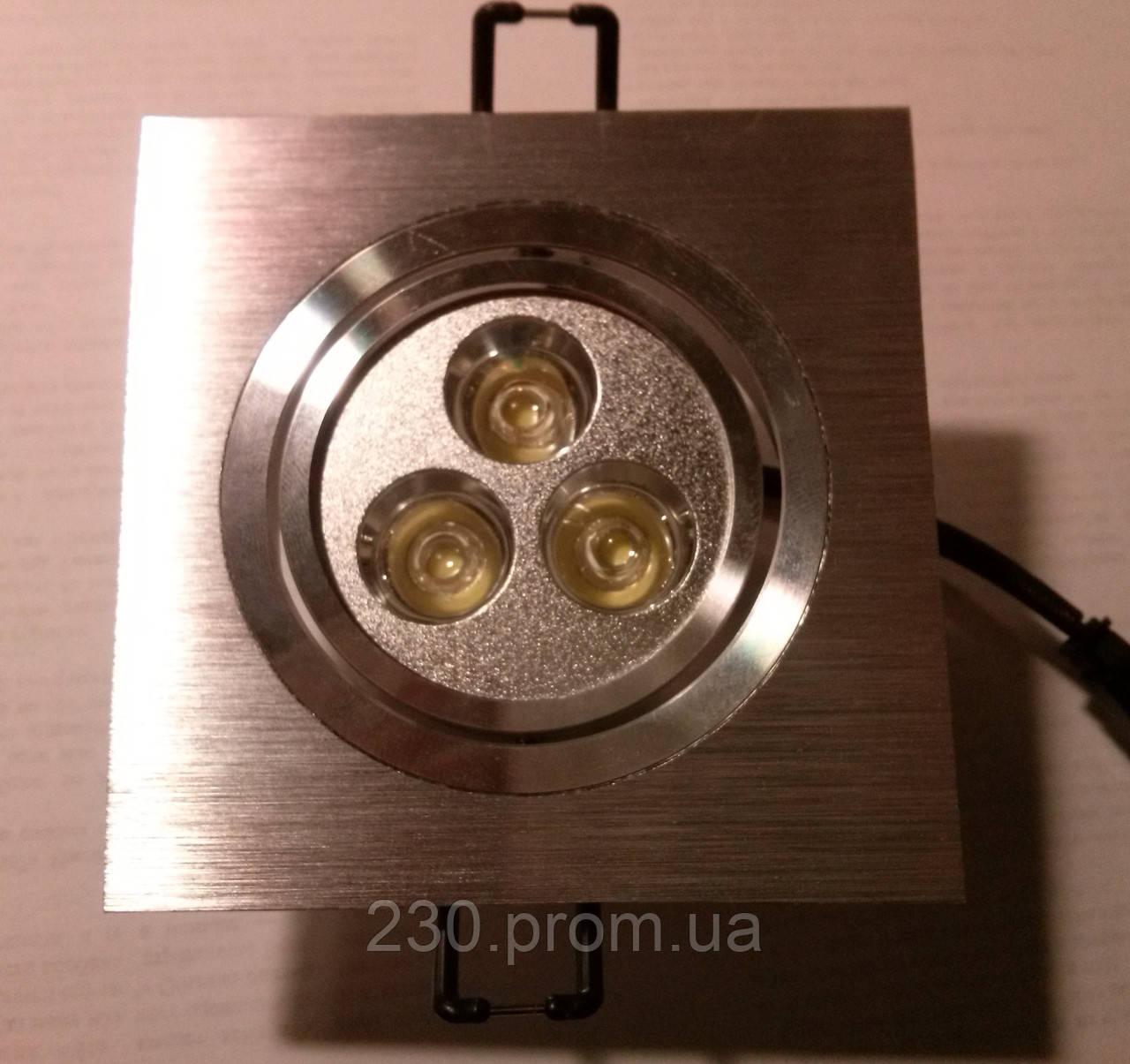 Точечный светильник CTC-LED 1609 3Вт SS сатиновое серебро