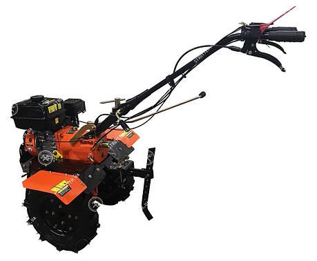 Мощный мото культиватор 7 л.с. Forte 1050G на колесах с бензиновым 4-х тактным двигателем и с задним ходом, фото 2