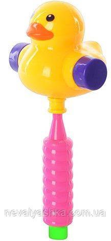 Погремушка молоточек уточка с ручкой, утка пищалка молоточок качечка звук, 258, 003040