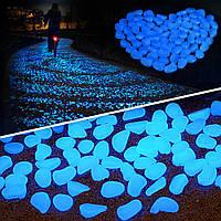 """Декоративный камень, светящаяся галька, освещение для аквариума, - JAKCOMBER """"Glow Pebble"""" - 10 шт."""