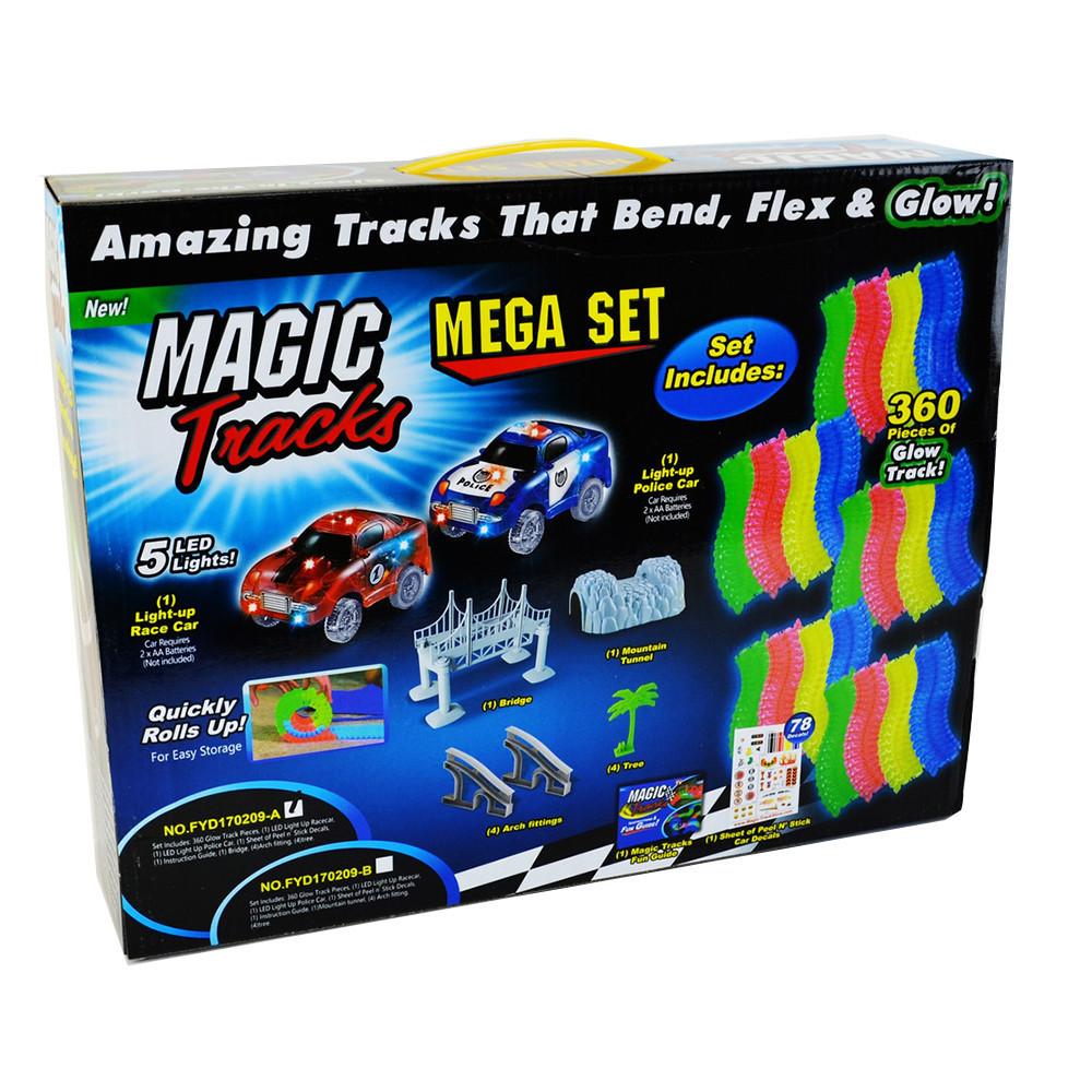 Гоночная трасса конструктор Magic Tracks 360 деталей FYD170209-A