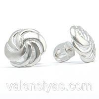Сережки гвоздики серебряные