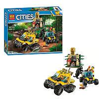 Конструктор CITIES 10710 (аналог Lego City 60159) «Миссия Исследование джунглей» 397 дет.