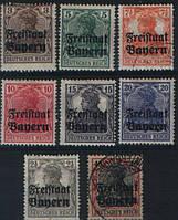 Бавария 1919 надпечакта Freistaat Bayern