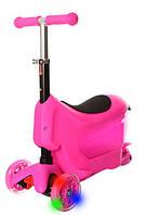 Трехколесный самокат беговел 3 в 1 толокар Dodopony JR3-029 Pink