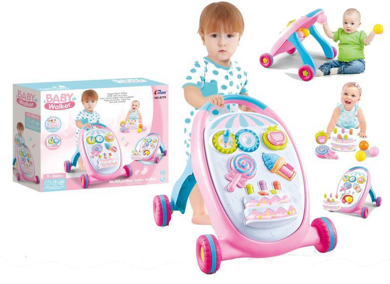 Каталка-ходунки Праздничные 8775 pink
