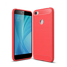 Силикон Polished Carbon Xiaomi Redmi Note 5a (Красный)