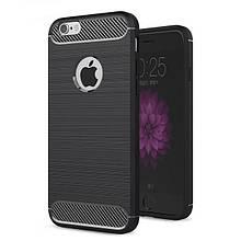 Силикон Polished Carbon Apple iPhone 6/7/8 Plus (черный)