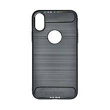 Силикон Polished Carbon Apple iPhone X (черный)