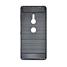 Силикон Polished Carbon Sony XZ 2 (Черный)