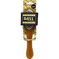 Bass Brushes, Щетка для домашних животных из проволоки/щетины кабана, Овальная, Маленькая, 1 щетка