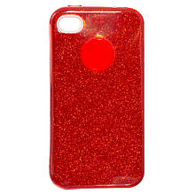 Силикон SHINE Apple iPhone 4 (красный)