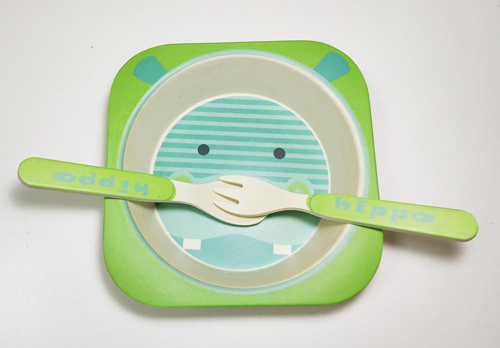 Набор детской бамбуковой посуды Eco Bamboo fibre kids set  3 предмета R83772 Green