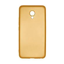 Силикон Soft Color Meizu M5 (Золотой)