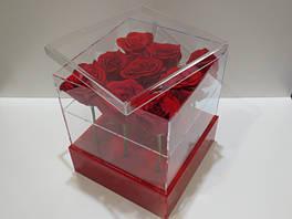 Акриловые коробки для цветов