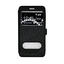 Чехол-книга Samsung J330/J3 (2017) Wave Cover (черный)