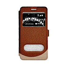 Чехол-книга Samsung J330/J3 (2017) Wave Cover (коричневый)