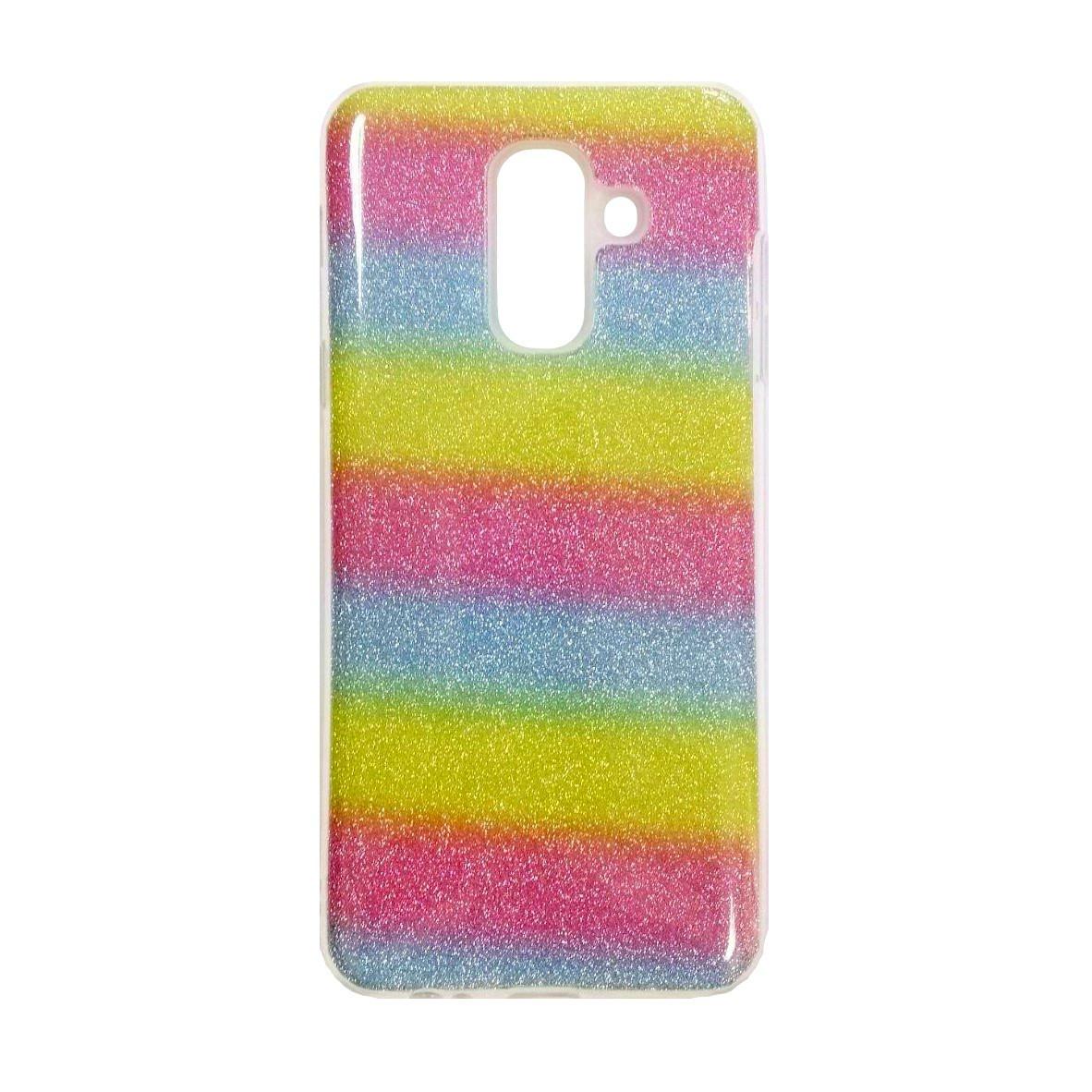 Силикон Twins Samsung Galaxy A6 Plus (2018) A605 (Радуга)