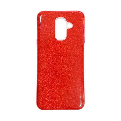 Силикон Twins Samsung Galaxy A6 Plus (2018) A605 (Красный), фото 2
