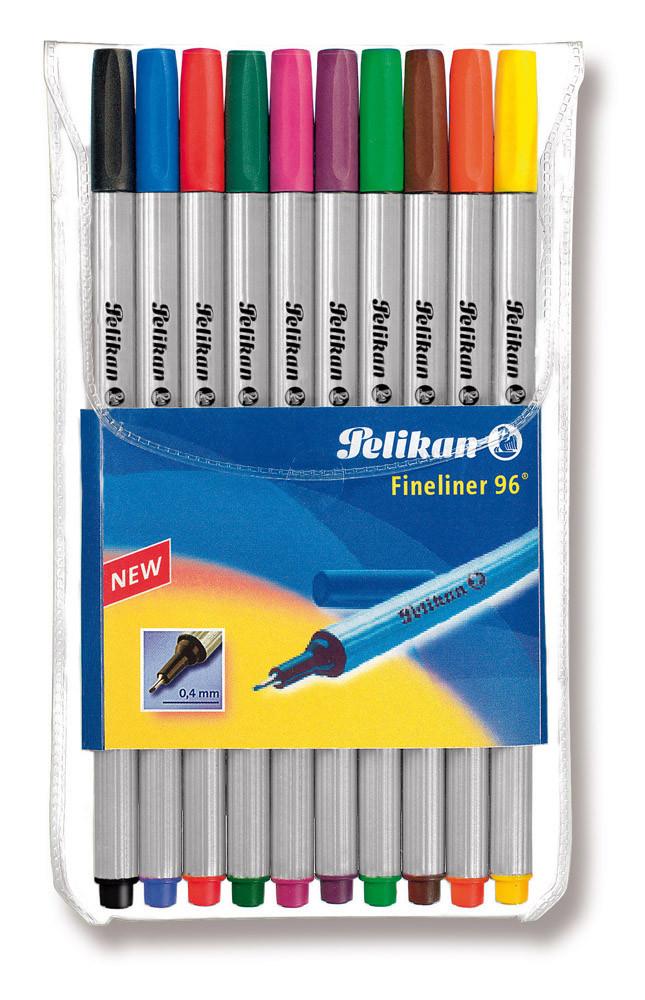 Ручки лайнеры Pelikan Fineliner 10 цветов  (940676)
