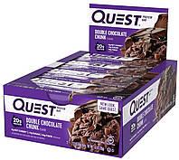 Quest Nutrition, QuestBar, Protein Bar, Double Chocolate Chunk, 12 Bars, 2.1 oz (60 g) Each, фото 1