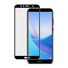 Защитное стекло 5D для Huawei Y7 (2018) / Y7 Prime (2018) / Honor 7C Pro Black (Клей))