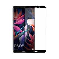 Защитное стекло 5D для Huawei Mate 10 Pro Black (Клей)