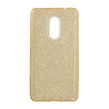 Силикон Glitter Xiaomi Redmi Note 4x (золотой)