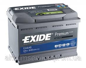 Акумулятор автомобільний Exide Premium 64AH R+ 640А