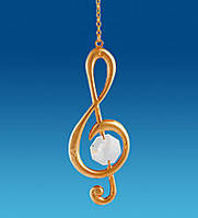 Подвесная фигурка с кристаллами Сваровски Музыкальный ключ