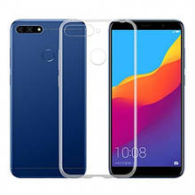 Силикон WS Huawei Y7 (2018) / Honor 7C Pro (прозрачный)