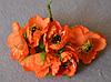 Атласные цветочки 4009  упаковка 72 шт