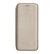 Чехол-книжка Оригинал Samsung J7 (2015) J700 (Золотой)