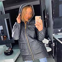 Куртка-пуховик с брендовой лентой, фото 1