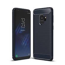Силикон Polished Carbon Samsung Galaxy S9 Plus (Чёрный)