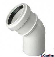 Колено для внутренней канализации Magnaplast HTB 32/67 мм (белое)