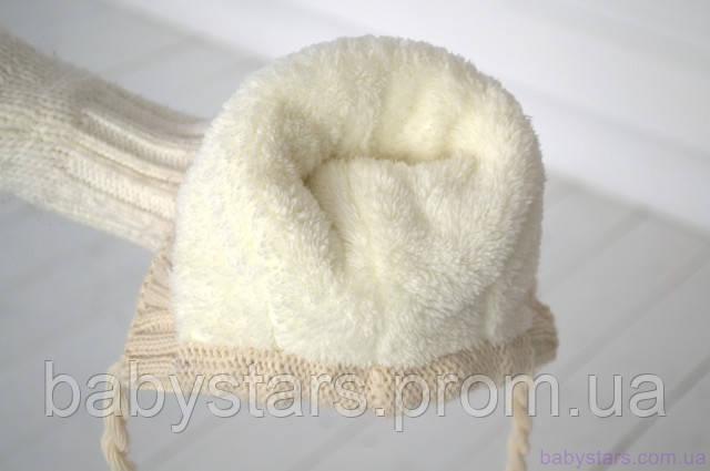 Шапочка вязанная на махре