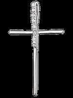 """Серебряная подвеска с камнями крестик """"301"""""""
