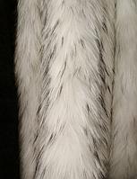 Меховая опушка из енота белая 70 см