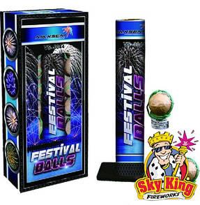 Миномет FESTIVAL BALLS 38мм. 12 зарядов. Фейерверки и пиротехника