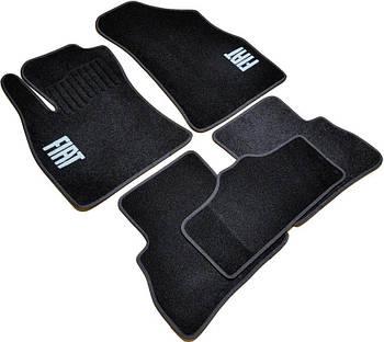 Коврики в салон ворс Fiat Doblo II (2010-) 5мест. /Чёрные, кт 5шт
